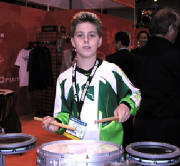 Anton plays with the big boys at the Namm Show