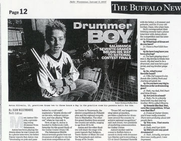 "Anton made  ""big headlines"" in Buffalo News"