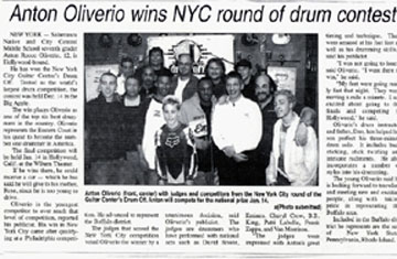Anton Oliverio makes big impression in NY City.
